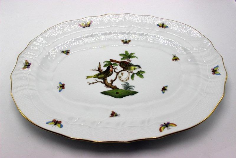 "Herend ""Rothschild"" Birds Porcelain Serving Dish"