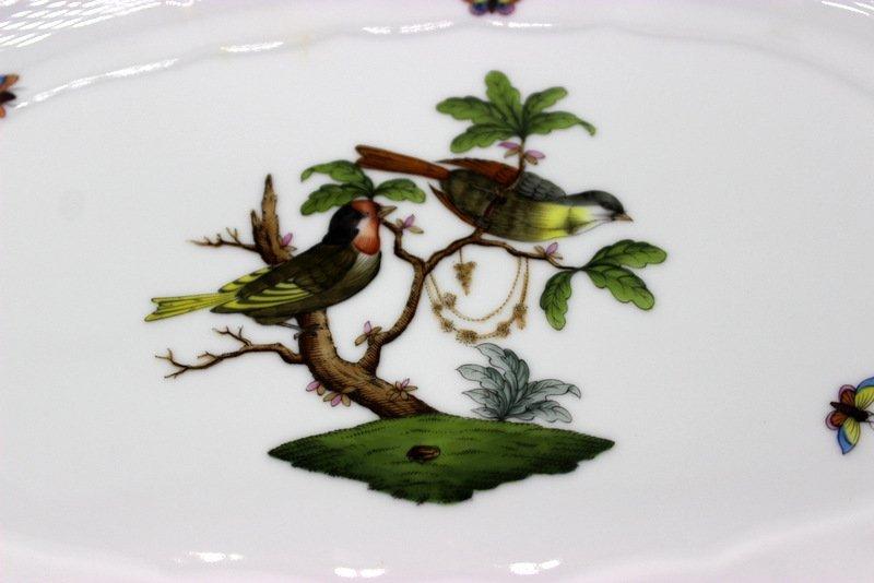"Herend ""Rothschild"" Birds Porcelain Serving Dish - 2"