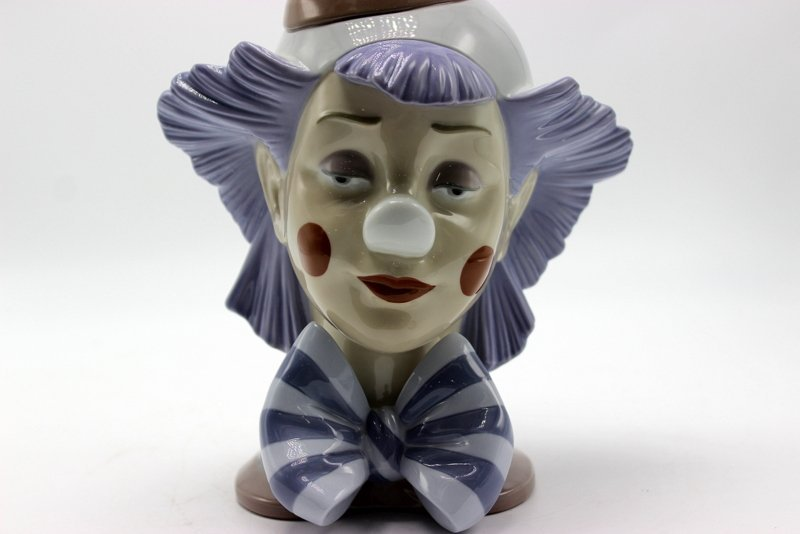 "Lladro ""Reflecting Clown"" #5612 Porcelain Figure - 3"