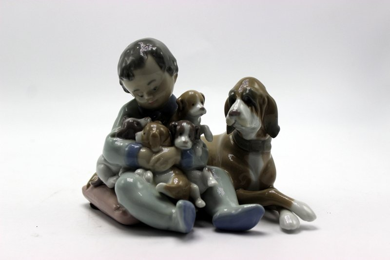 "Lladro ""New Playmates"" #5456 Porcelain Group"