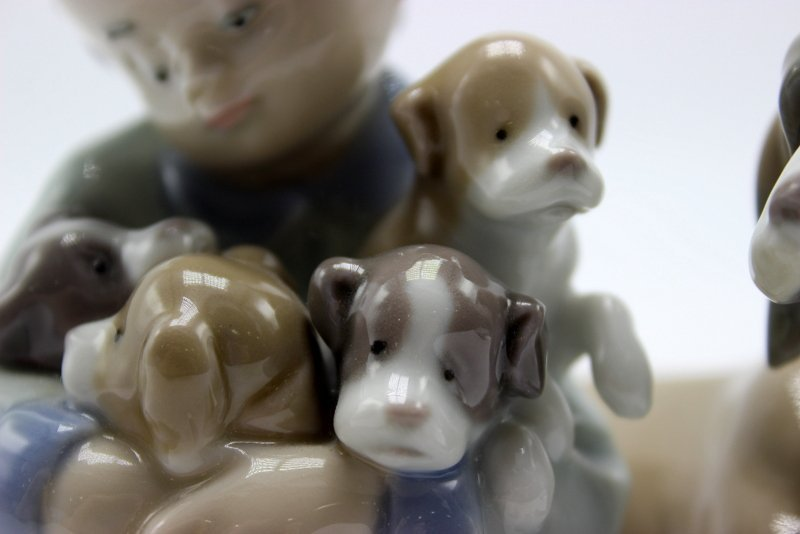 "Lladro ""New Playmates"" #5456 Porcelain Group - 4"