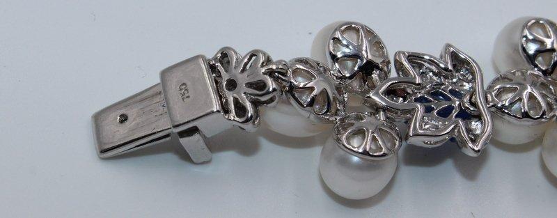 18Kt WG 3.12ct. Diamond & 23.58 Sapphire Bracelet - 6