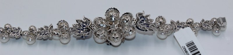 18Kt WG 3.12ct. Diamond & 23.58 Sapphire Bracelet - 7