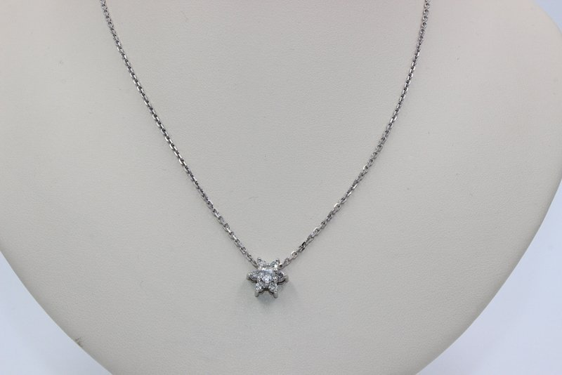 18Kt WG .65ct. Diamond Pendant with Chain