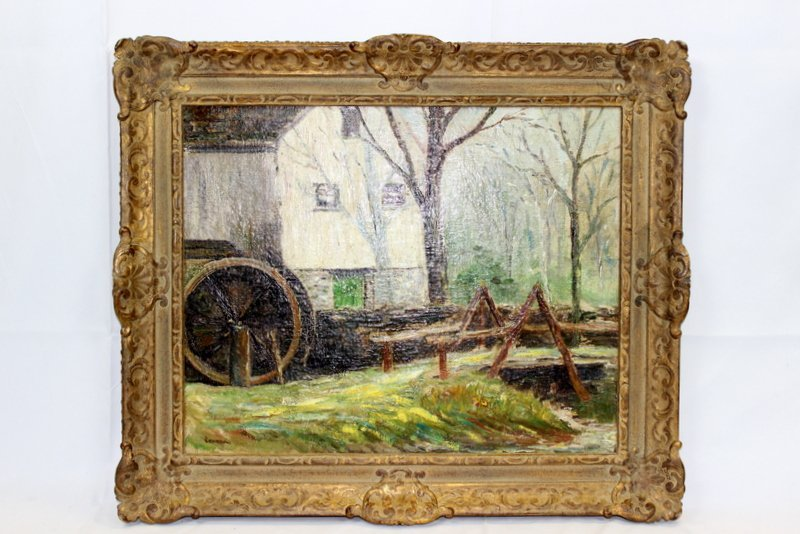 "Robert Vonnoh ""The Old Mill"" (American 1858-1933)"