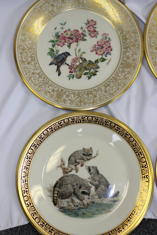 10 Lenox Plates Handpainted by Boehm - 2