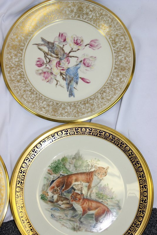 10 Lenox Plates Handpainted by Boehm - 6