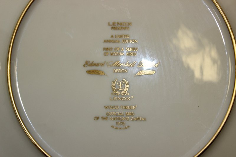 10 Lenox Plates Handpainted by Boehm - 8