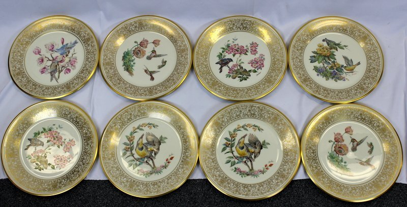 8 Lenox Plates Handpainted by Boehm