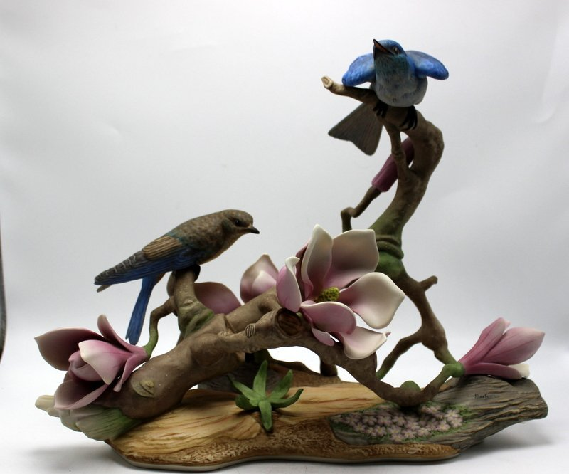 "Boehm ""Mountain Bluebirds"" Porcelain Group"