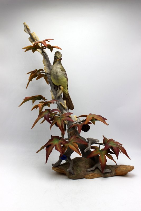 "Boehm ""Crested Flycatcher"" Porcelain Group"