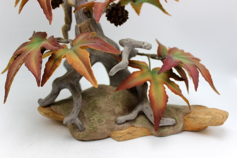 "Boehm ""Crested Flycatcher"" Porcelain Group - 3"