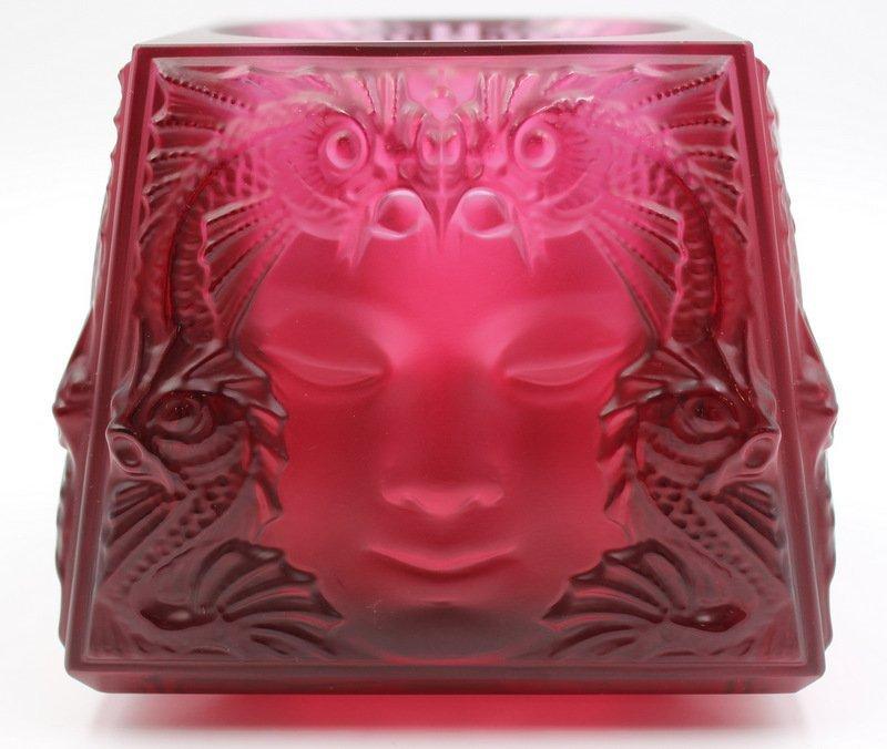 """Lalique """"Masque de Femme"""" Votive Holder"""
