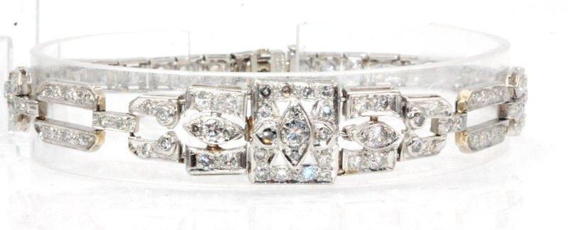 Art Deco Platinum And Diamond Bracelet 4.50Cts