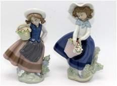 2 Lladro Porcelain Figures 5221  5222