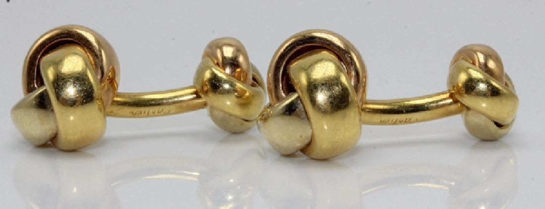 Cartier 18Kt YG Knot Cufflinks