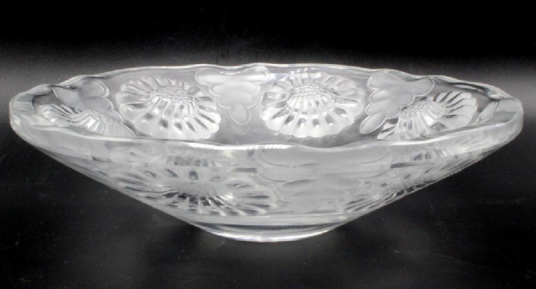 "Lalique Crystal ""Daisy"" Bowl"
