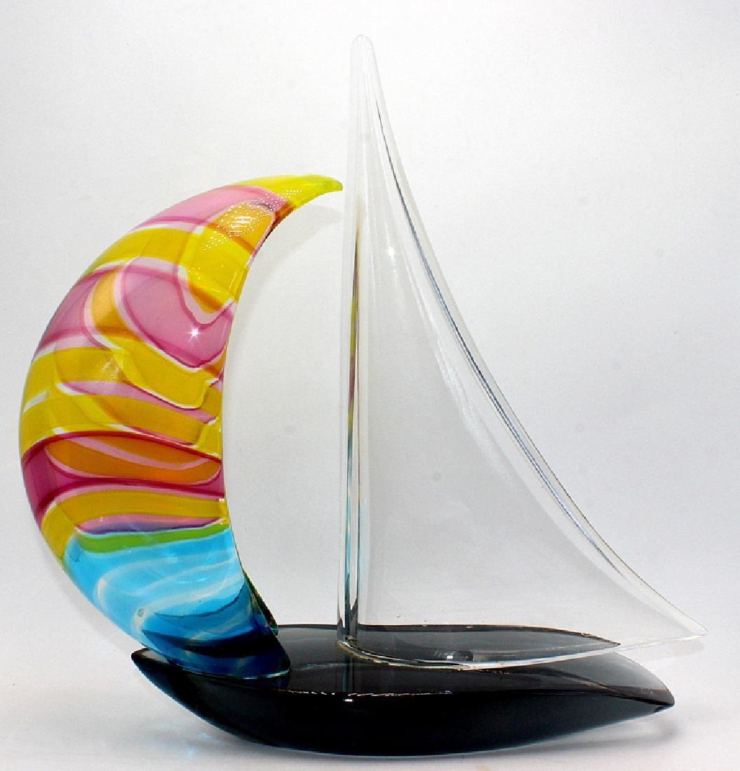 Murano Art Glass Multi-Colored Sailboat