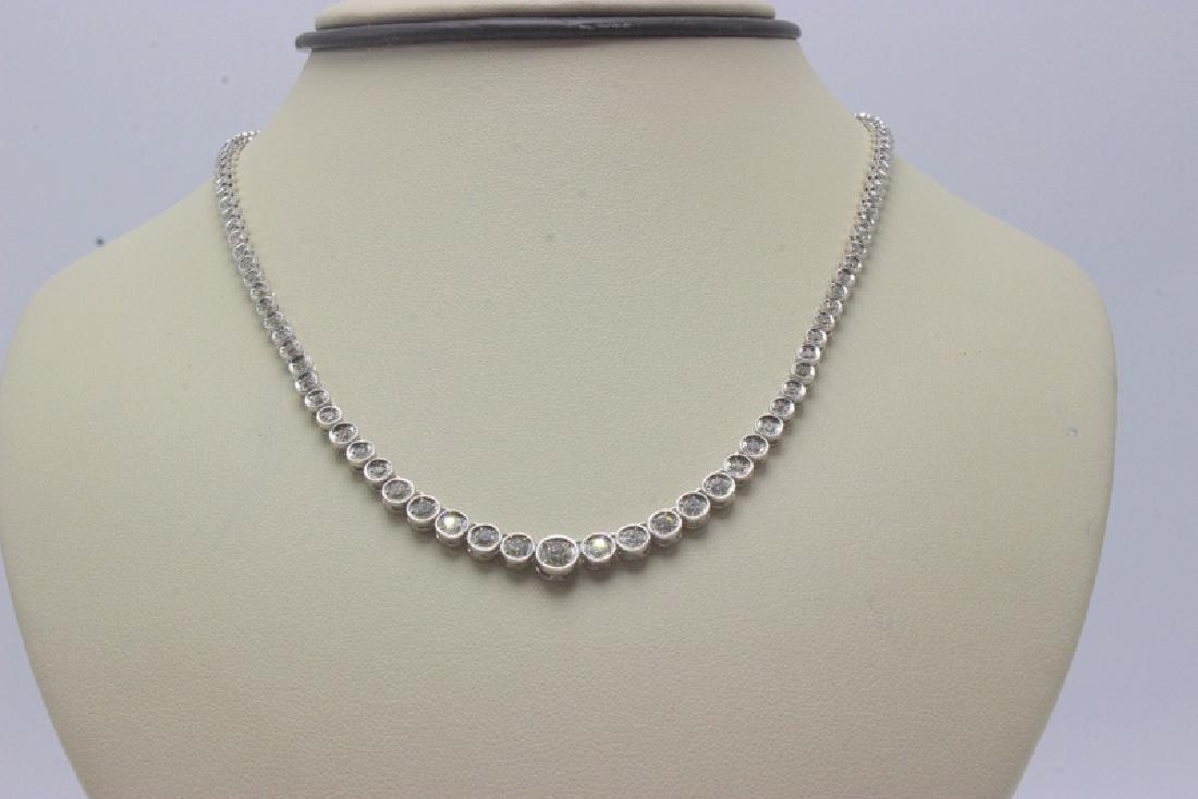 18Kt WG 3.5ct. Diamond Line Necklace