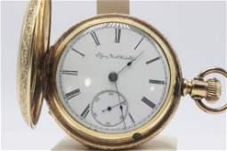 Elgin Watch Company Gold Filled Railroad Pocket Watch