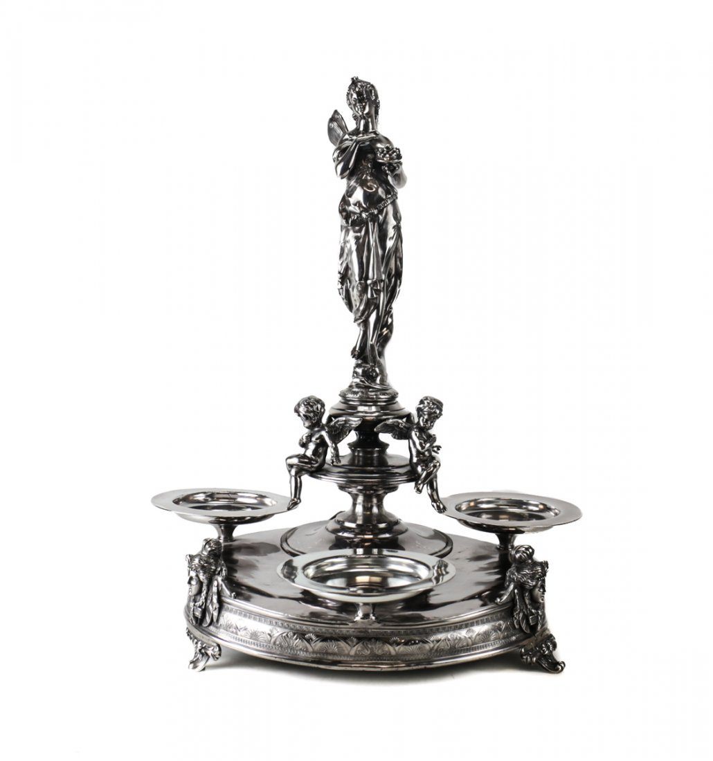 19th Century American Revival Silverplate Centerpiece