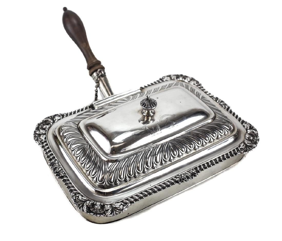Georgian Silver Toasted Cheese Server / Chafing Dish