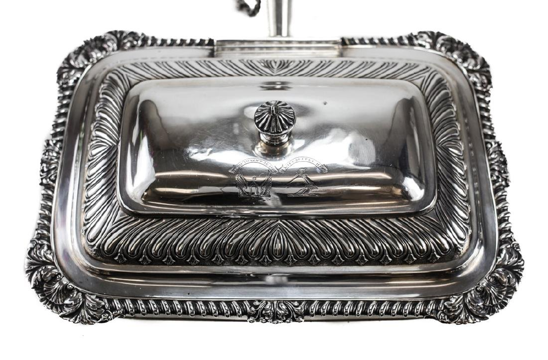 Georgian Silver Toasted Cheese Server / Chafing Dish - 2