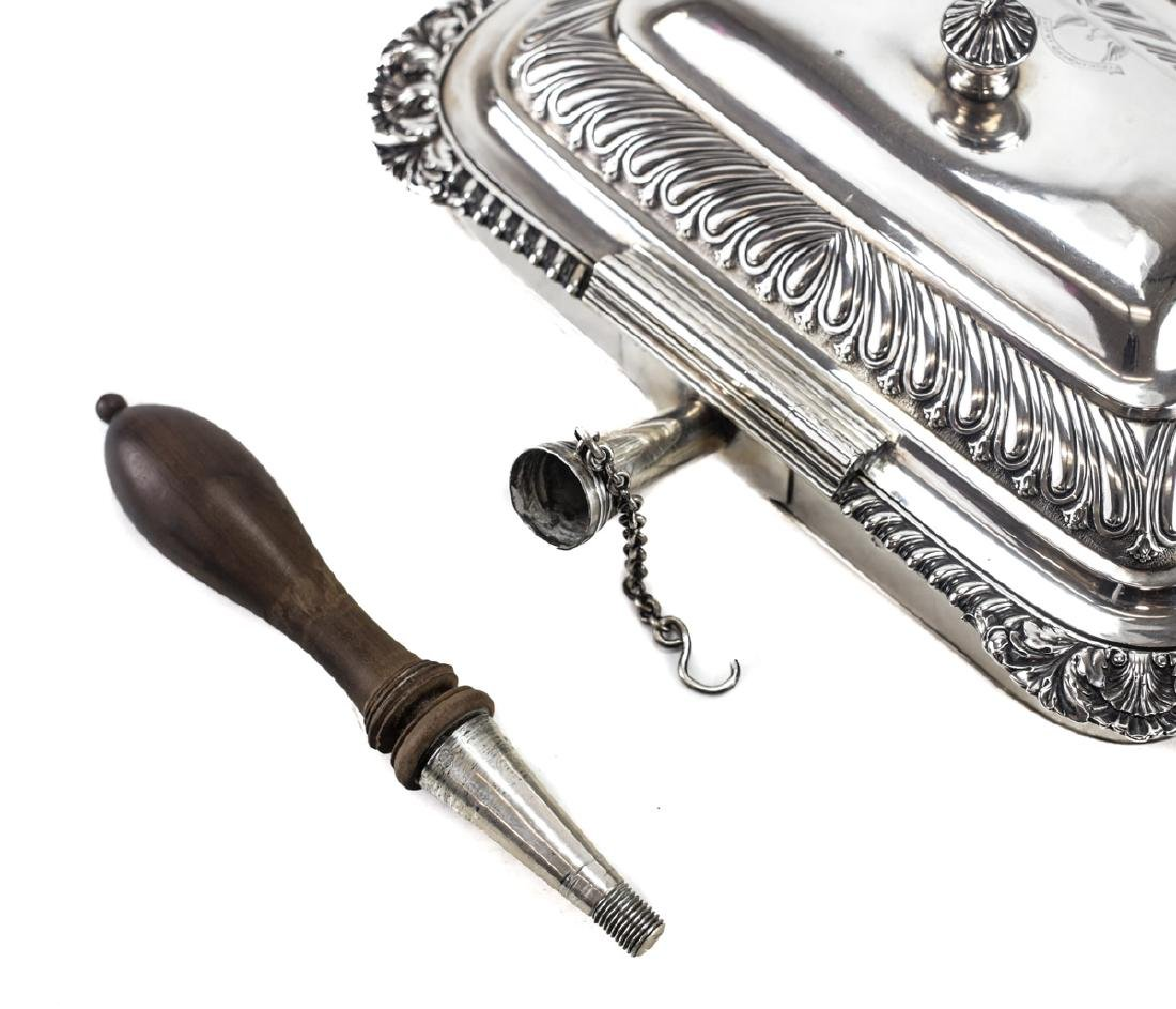 Georgian Silver Toasted Cheese Server / Chafing Dish - 4
