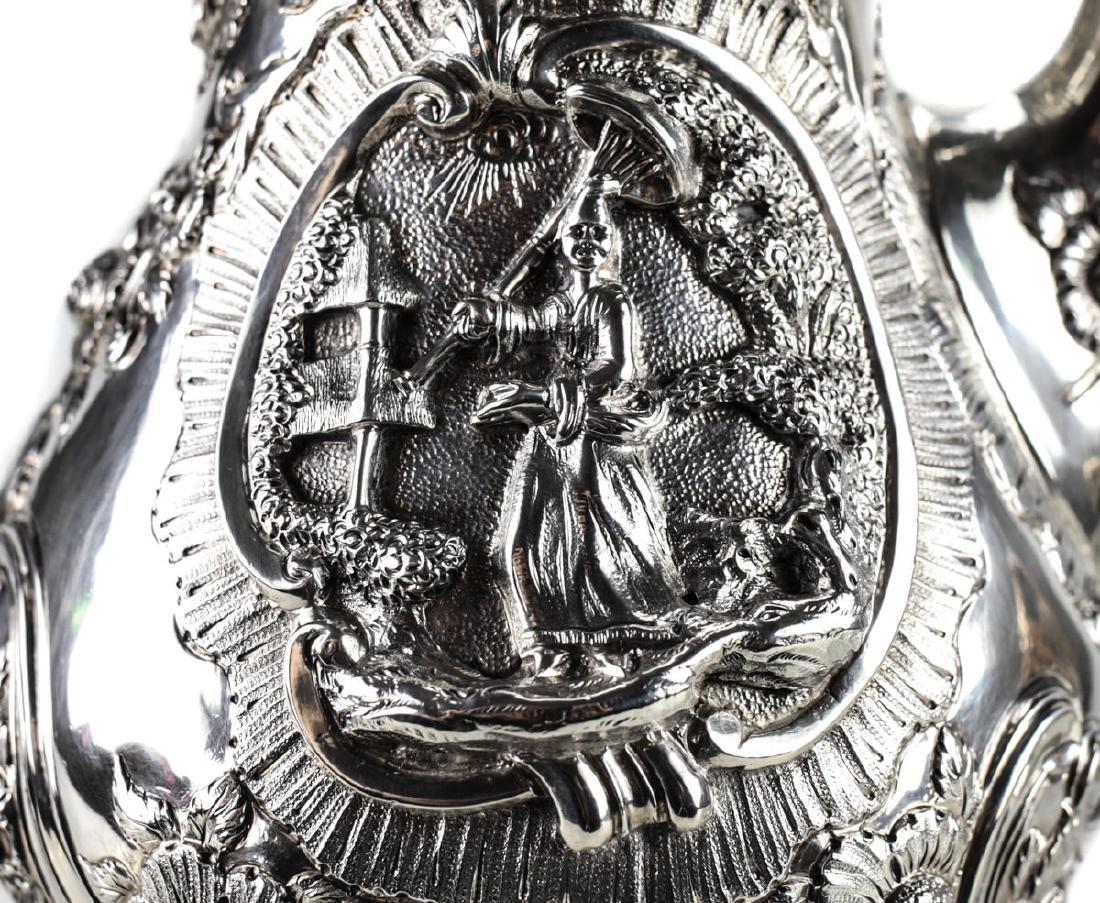 A Regency Sterling Silver Coffee Pot by William - 2