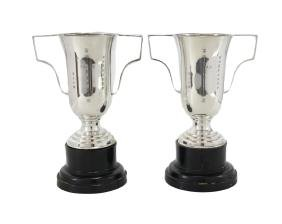 Pair of Chinese Silver Trophies