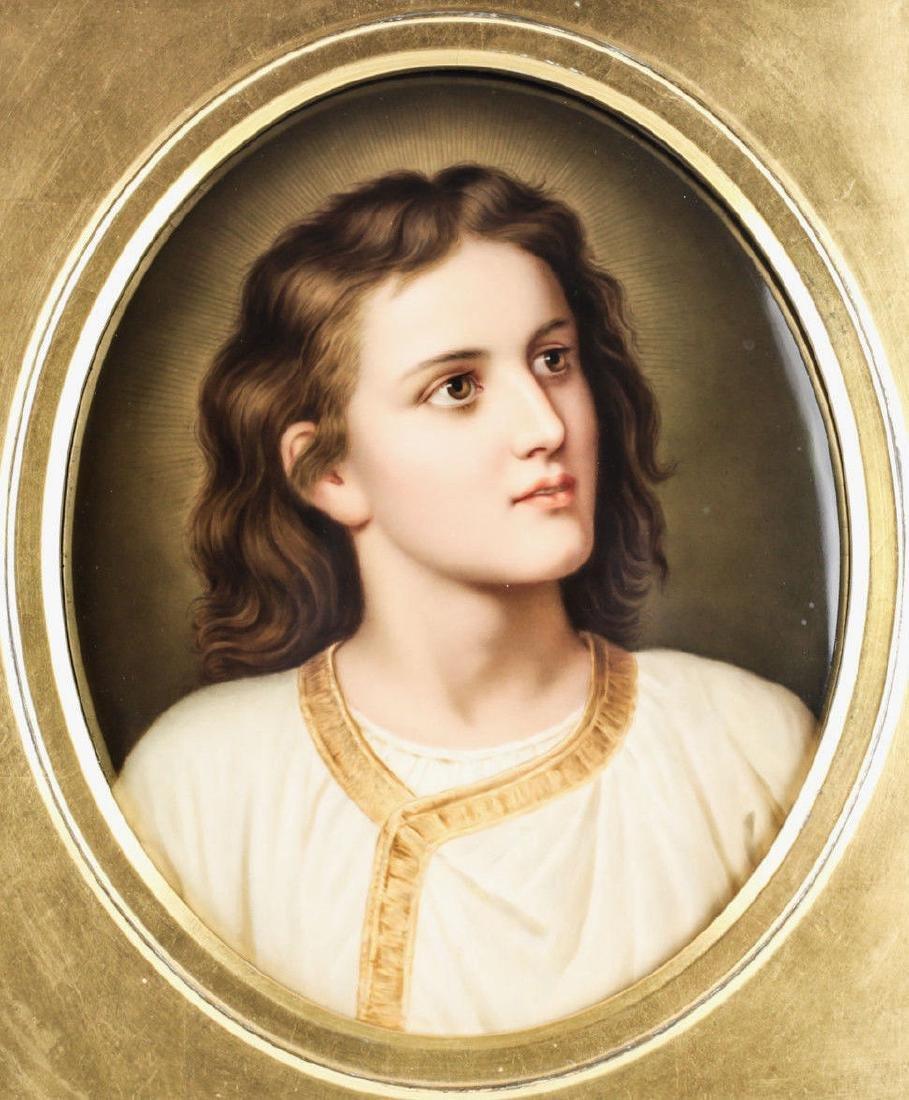 KPM Porcelain Plaque Jesus Portrait