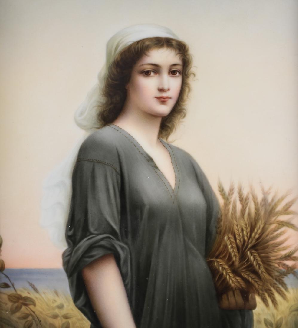 Large KPM Porcelain Portrait Plaque of Ruth