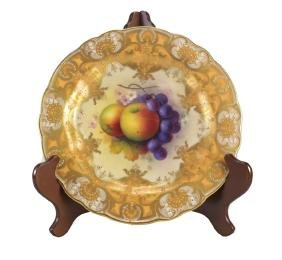Royal Worcester Cabinet Plate Albert Shuck