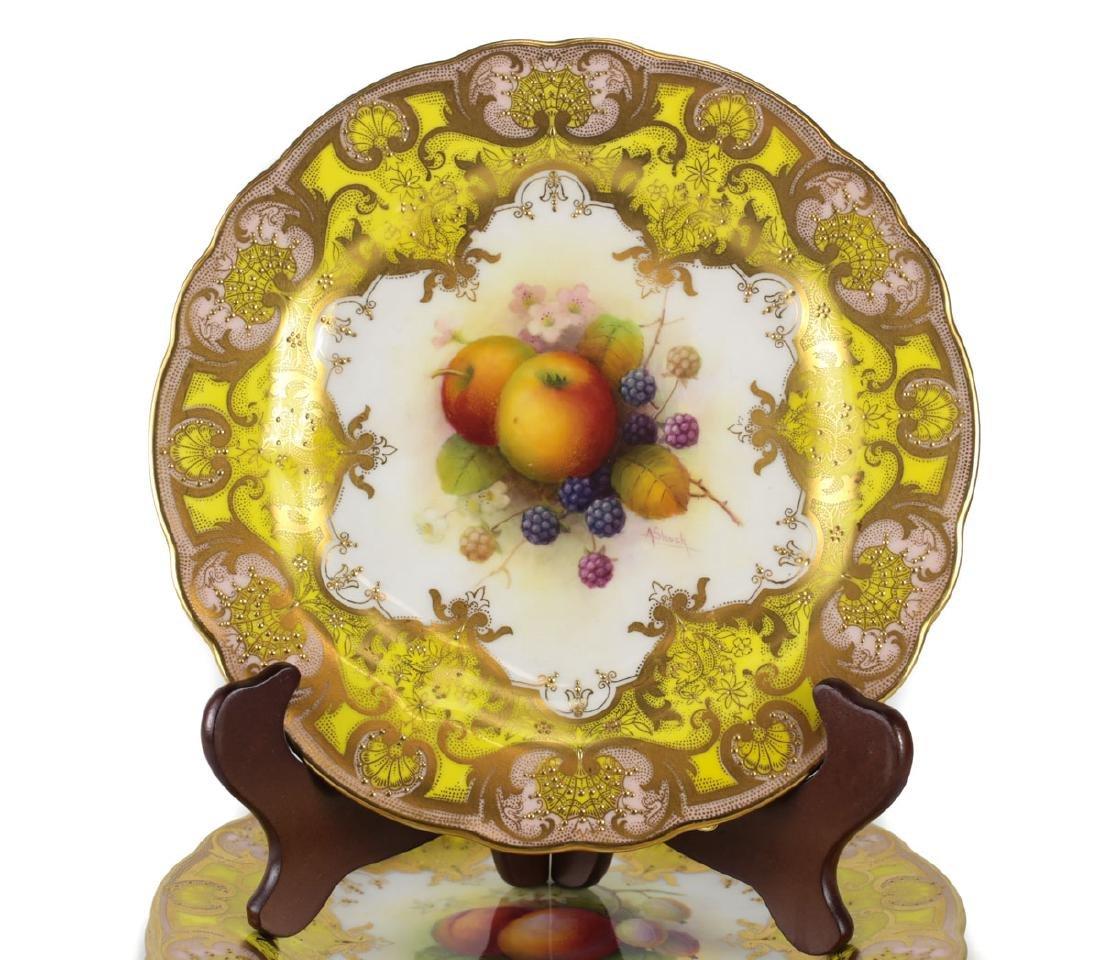 Six Royal Worcester Cabinet Plates Albert Shuck - 2