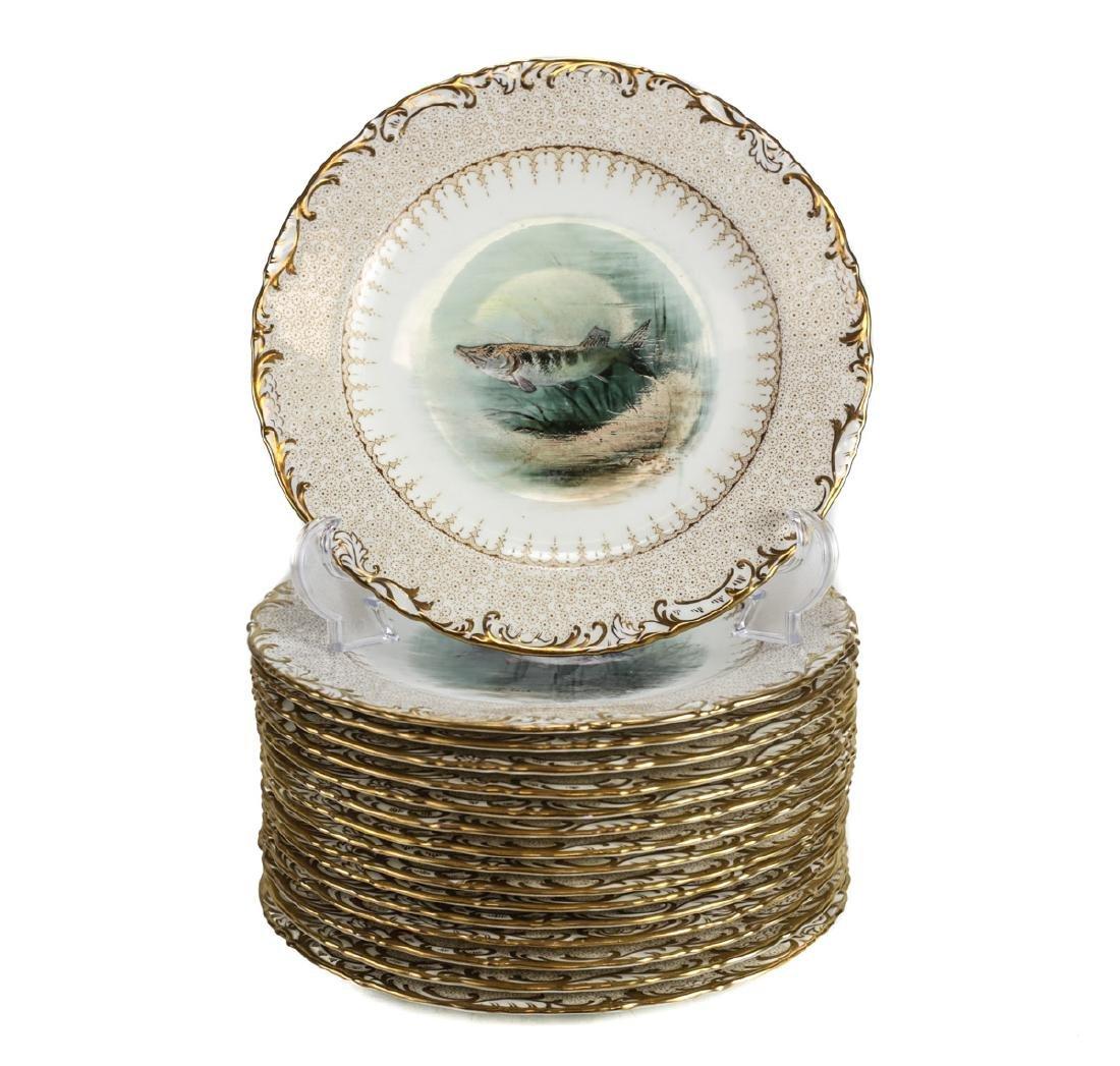 16 Wedgwood Porcelain Fish Plates