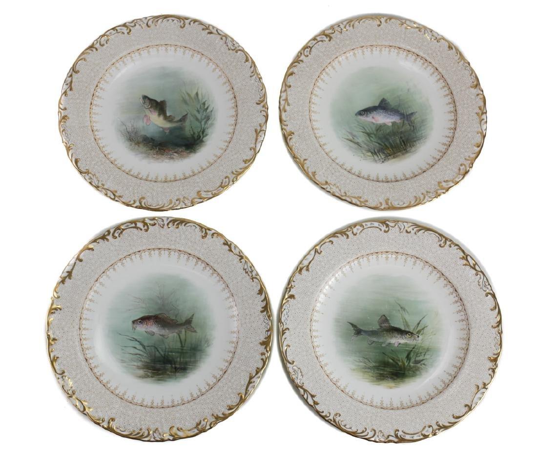 16 Wedgwood Porcelain Fish Plates - 5