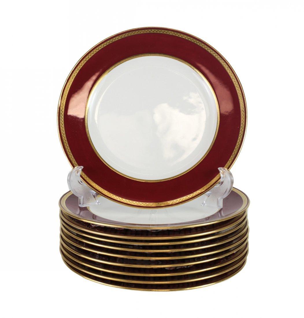10 Minton for Tiffany & Co. Porcelain Plates