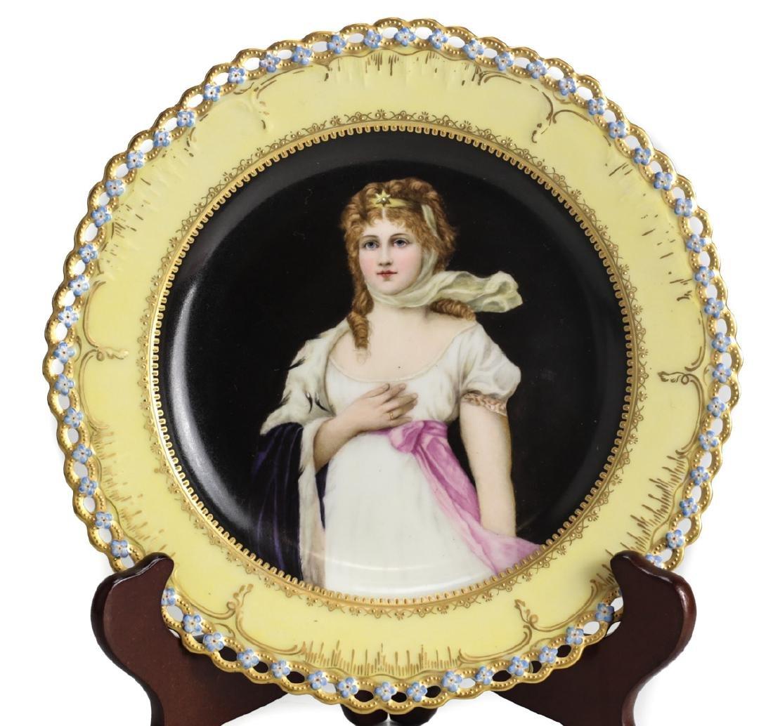 Berlin KPM Porcelain Portrait Plate - 2