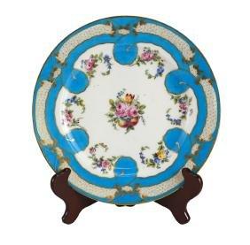 18th Century Sevres Porcelain Cabinet Plate