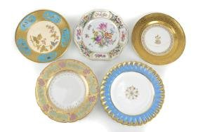 Group of Porcelain Cabinet Plates