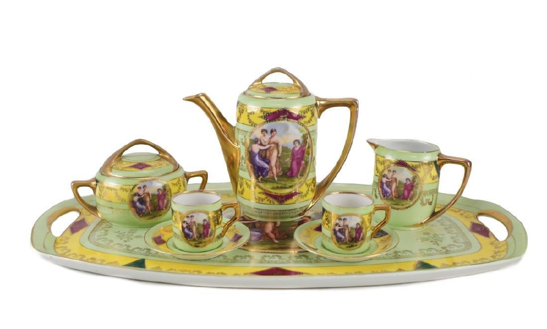 Angelica Kauffman Czech Porcelain Tea Set