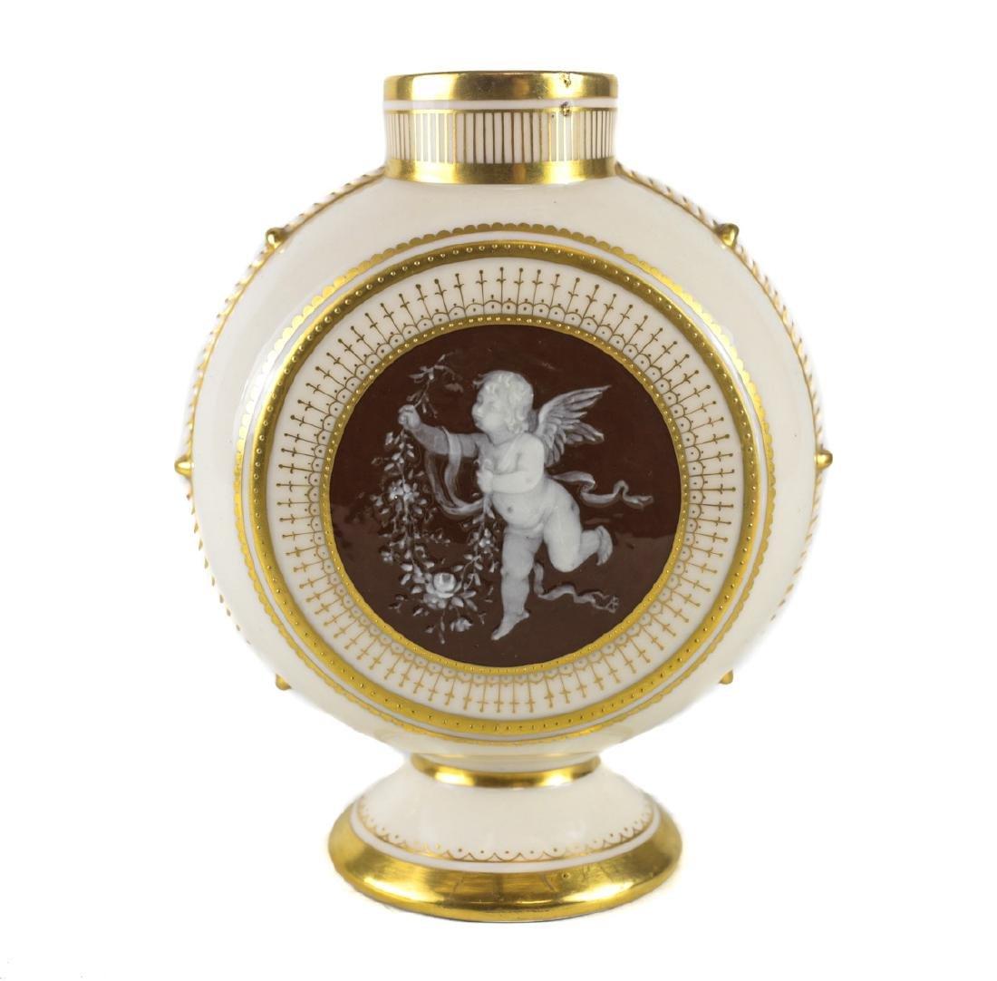 Minton Pate Sur Pate Porcelain Vase Alboin Birks