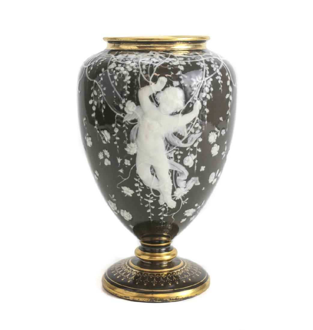 Minton Pate Sur Pate Porcelain Vase Louis Solon