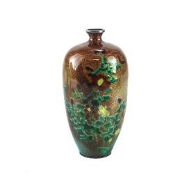 Japanese Cloisonne & Enamel Bud Vase