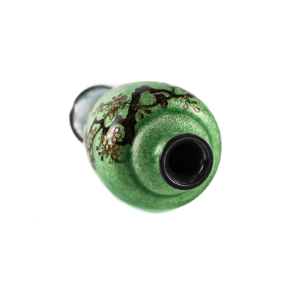 Japanese Cloisonne & Enamel  Silver Bud Vase - 4