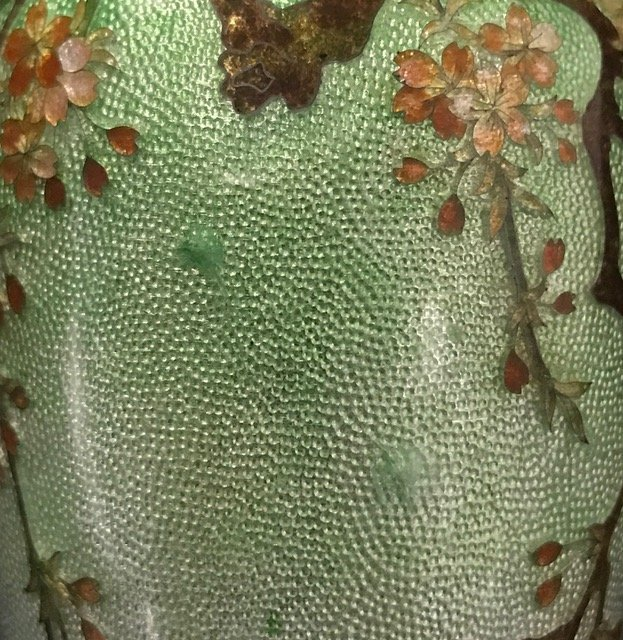 Japanese Cloisonne & Enamel  Silver Bud Vase - 6