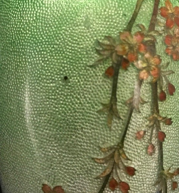 Japanese Cloisonne & Enamel  Silver Bud Vase - 8