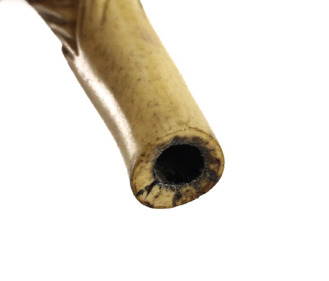 19th Century Japanese Bone Carved Cane Handle - 4