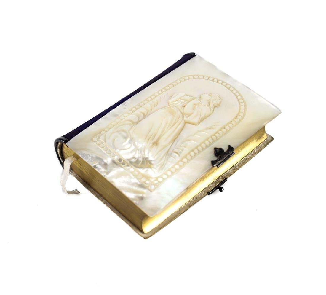 Mother of Pearl Covered French Prayer Book - 2