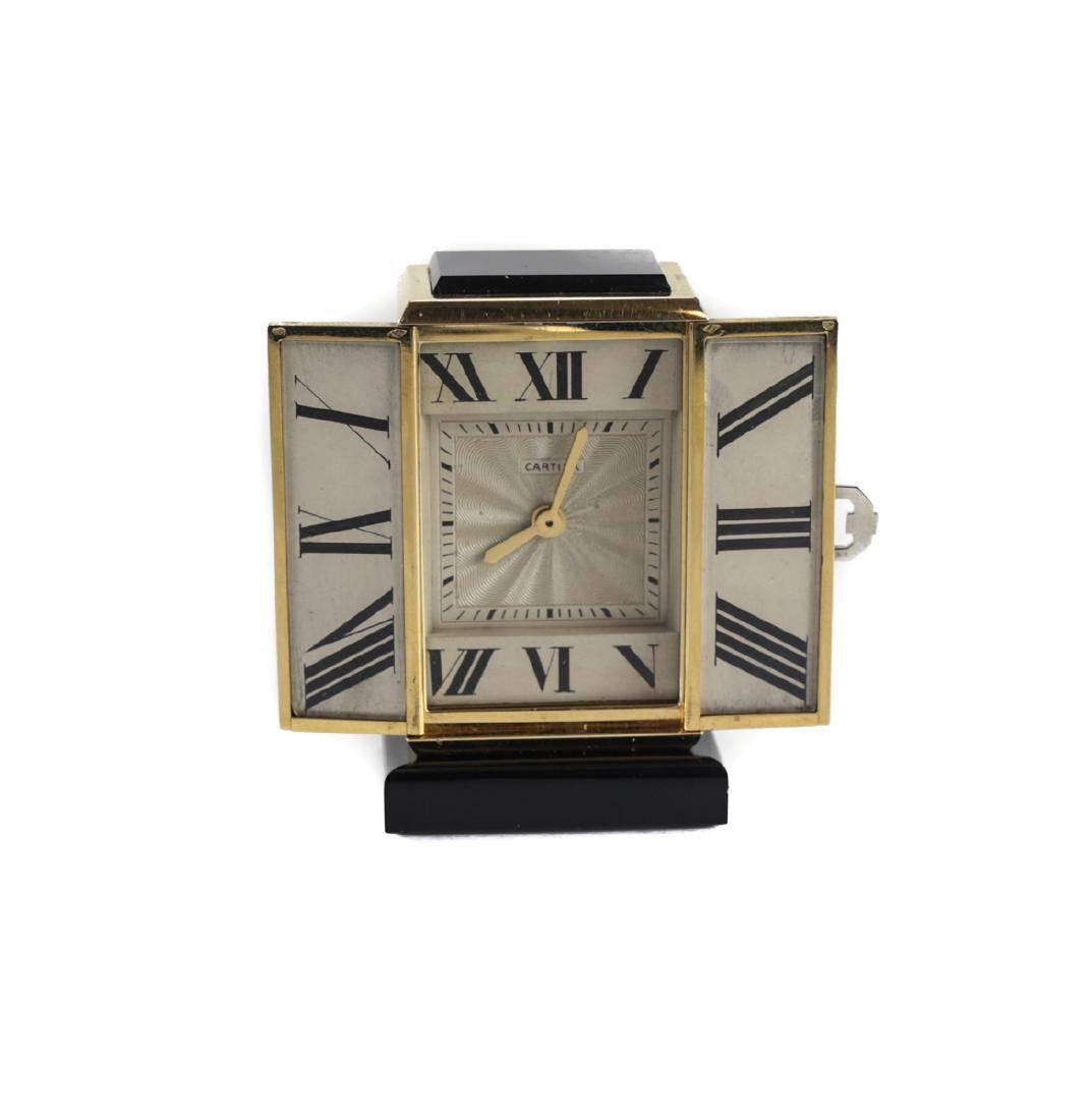 Cartier 18k Gold Miniature Table Clock